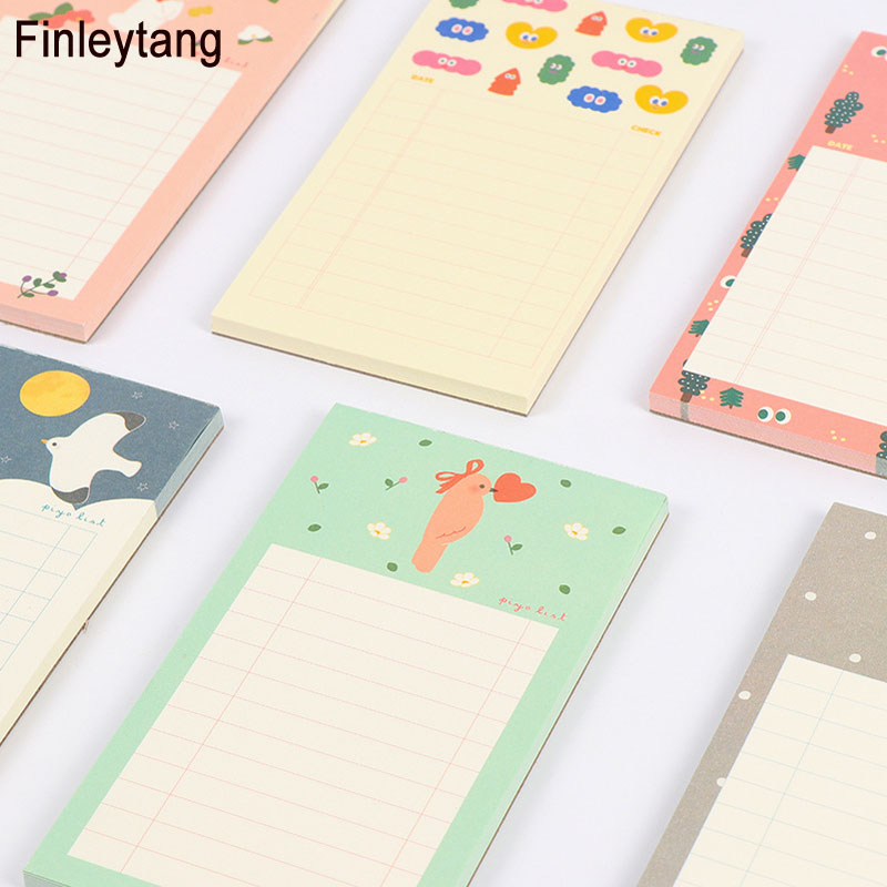 Cute Forest Style Cartoon Animal Memo Pad Travel Notepad Check List Adhesive Sticky Notes School Office Supply Stationery Paper 200 sheets 2 boxes 2 sets vintage kraft paper cards notes filofax memo pads office supplies school office stationery papelaria