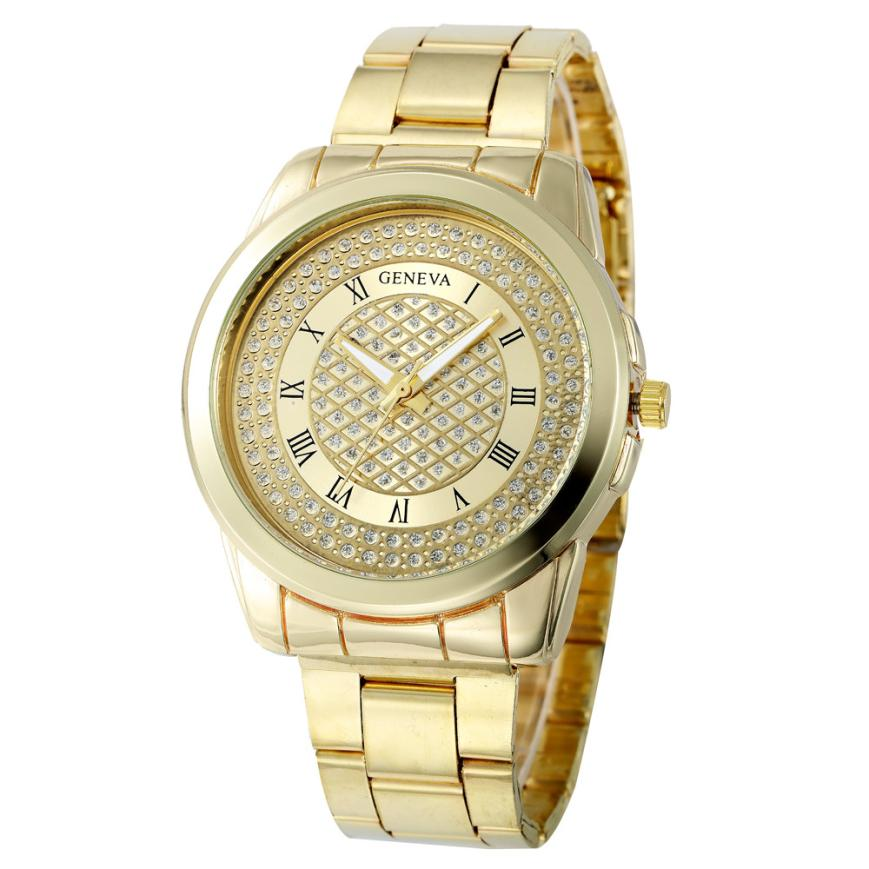 New Fashion Quartz Watch Women Bracelet Rhinestone Female Clock Gold Silver Stainless Steel Analog Watches Relogio Feminino Z20 купить