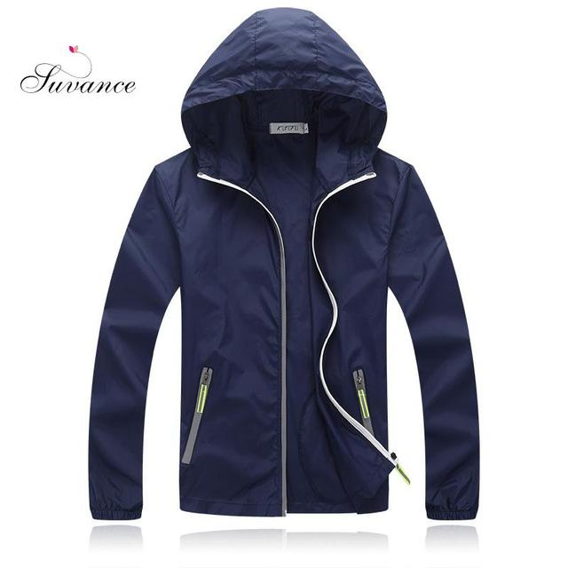 Suvance Spring Summer Casual Sunscreen Thin Windbreaker Solid Color Bige Size M-4xl Couples Basic Quality Outwear