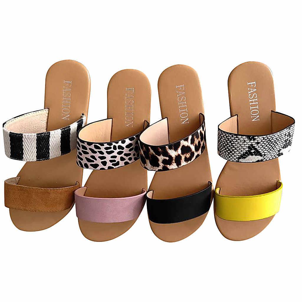 Platform Wedge Vrouwen Mode Vakantie vrouwen Casual Monochroom Vintage Romeinse Plus-size Platte Slippers Sandalen Schoenen #611