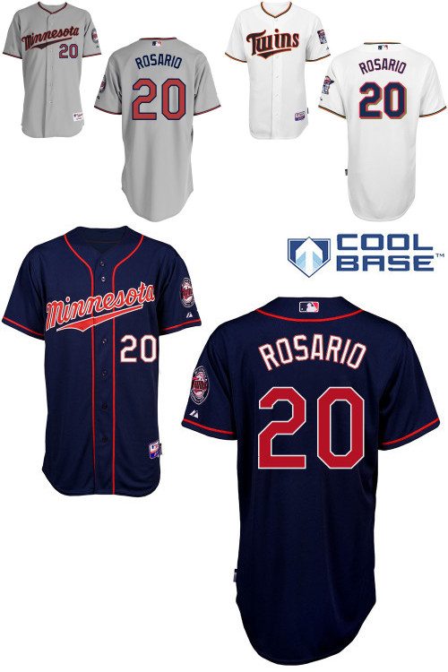reputable site 71c47 40d53 Eddie Rosario Jersey Twins White Grey Blue 20 Rookie Jerseys ...