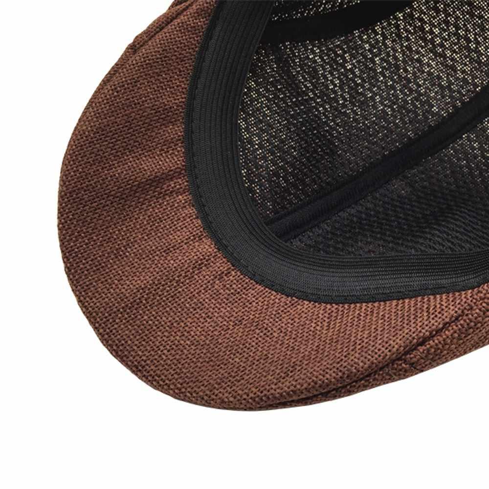 Chapéu de verão para mulher chapéu de viseira chapéu de malha de malha de corrida esporte casual respirável boina plana