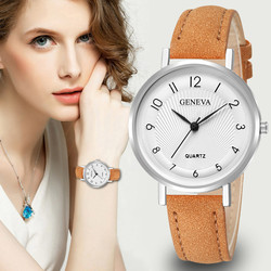 Montres Women Watches Geneva Watch Small Thin Leather Quartz Analog Wrist Watch Ladies Bracelet Watch Hot Sale relogio feminino