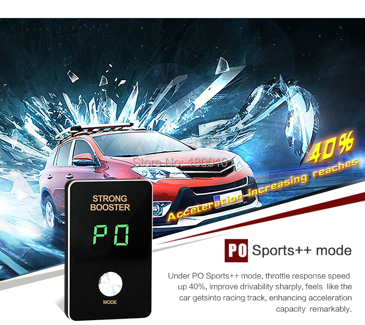 Mini 8 mode 2017 Pedal assist power booster Car Throttle Controller works for Trumpche GA3 GA3S Landwind X5 X7 ROEWE 350 360 950