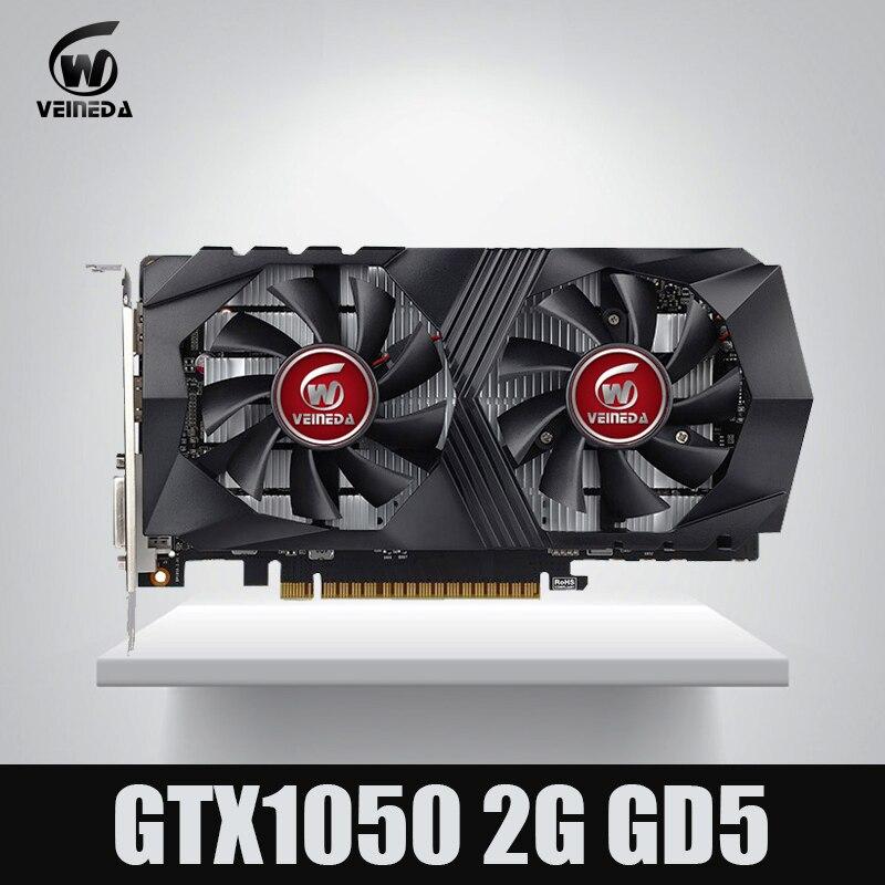 Vidéo Carte GTX1050 GPU Carte Graphique 2g DDR5 Gaming Minière Carte Instantkill GTX950, GTX750, GTX650 Pour nvidia Geforce Gtx jeux