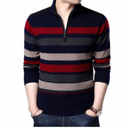 Mens Sweaters And Pullovers Pure Merino Wool Sweater Men 2018 Winter Thick Warm Zipper Turtleneck Cashmere Pullover Men