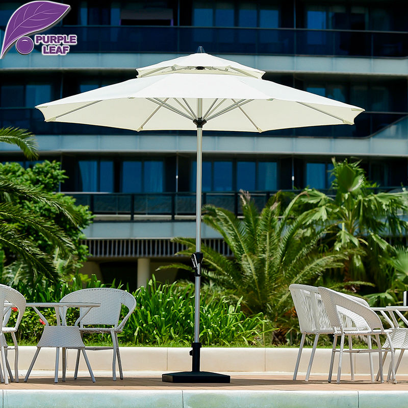 Purple leaf outdoor patio umbrella balcony parasol garden for Balcony umbrella