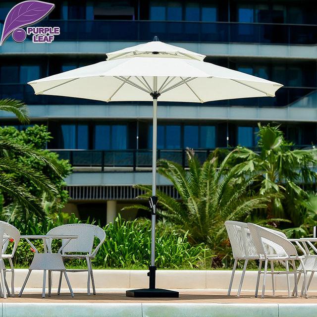 Purple Leaf Outdoor patio umbrella balcony parasol garden sombrilla ...