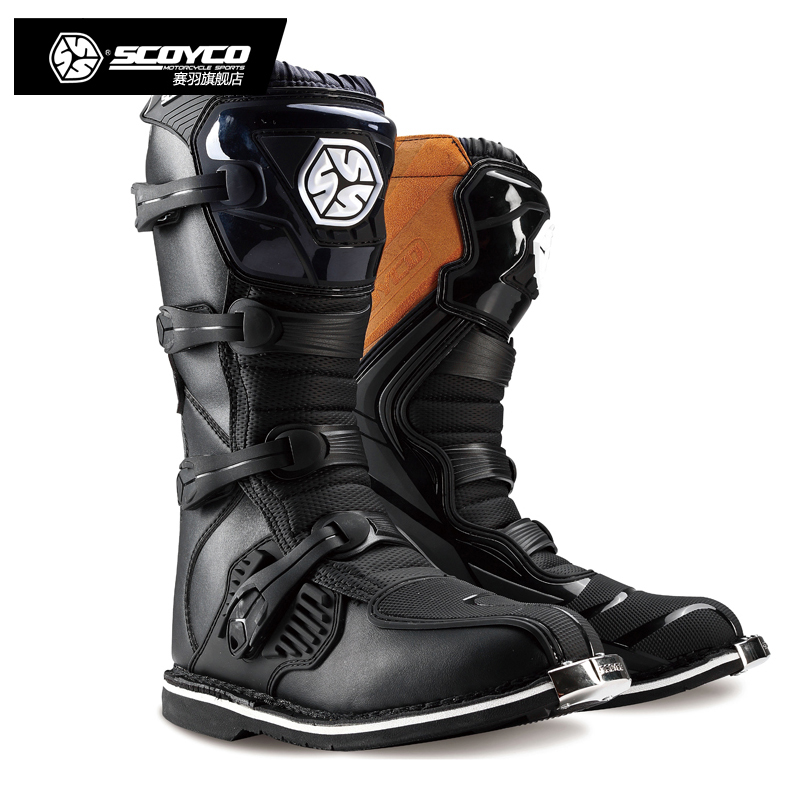 2016 New SCOYCO MBM001 Racing ATV Motorcycle Off-road Motocross Boots Botas MX Dirt Bike Sports Rider Motor Leather Motorbike