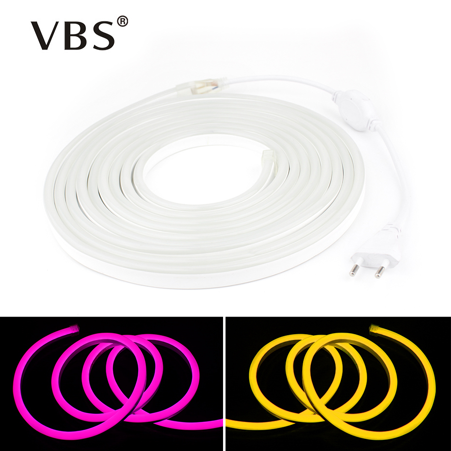 Led Strip Waterproof 220V 12W/M 1M 2M 3M 5M 10M Aquarium Lighting Flexible Led Strip Neon Light 220V Warm White/ Red/Green/RGB 1m 2m 5m 30cm 4 pin rgb led connector extension cable cord wire with 4pin connector for rgb led strip light free shipping