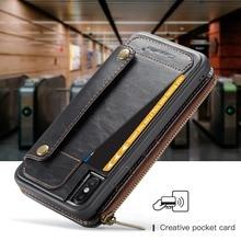 ארנק מצמד עור מפוצל Rfid ארנק זכר טלפון סלולרי תיק טלפון מקרה 2 in1 עבור iphone 6 6 s 7 8 בתוספת X Xs XR Xs מקסימום 11 פרו מקס SE