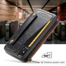 Wallet Clutch PU Leather Rfid Wallet Male Cell Phone Bag Phone Case 2 in1 for iPhone 6 6S 7 8 Plus X Xs XR Xs Max 11 Pro Max SE