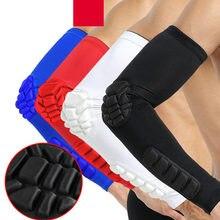 1 pçs braço manga braçadeira cotovelo suporte braço de basquete manga respirável futebol esporte cotovelo almofada cinta protetor