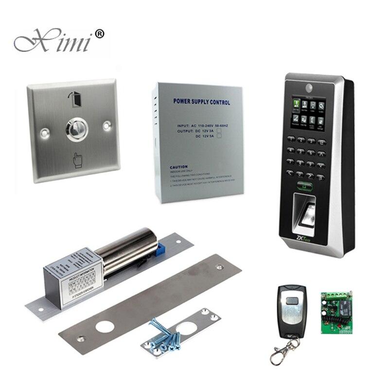 TCP/IP автономный Bioemtric распознавания отпечатков пальцев двери Система контроля доступа дверь ZK F21 SilkID доступа Управление