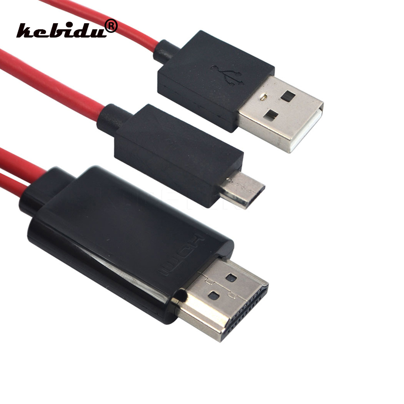 Kebidu Micro USB To HDMI 1080P Full HD TV Output Audio