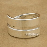 US Size 6 To 12 Solid 925 Sterling Silver 5mm Width High Polished Couple Ring Lover