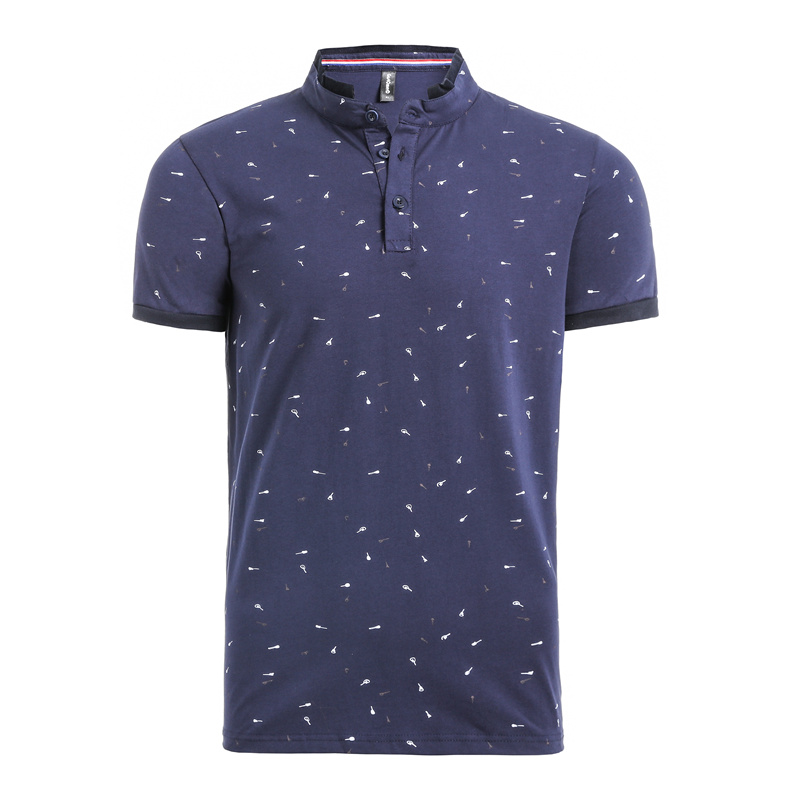 NEGIZBER 2019 Summer Print Guitar Polo Shirt Men's Short Sleeve Casual Men's Shirt Slim Polo Men's Cotton Polo Shirt