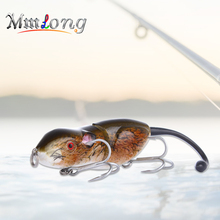 Mmlong 9cm Hard Mouse Fishing lure Artificial bait RAT2 20.6g  3D Eyes Rat with Treble Hooks crankbaits wobblers Tackle