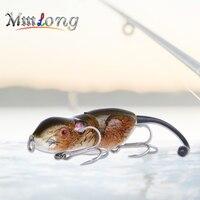 Mmlong 9cm Hard Mouse Fishing Lure Artificial Bait RAT2 20 6g 3D Eyes Rat With Treble