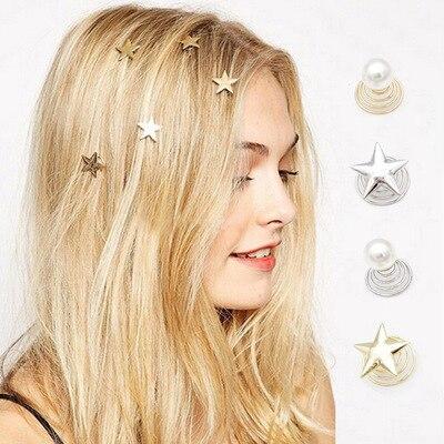 Kids Hair Accessories 4PCS/lot Hairpin For Women   Headwear   Girls   Headwear   Star Clips Hairpin Spiral Hair Claw Stick Hair Jewelry
