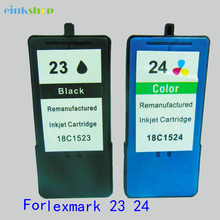 2PC Ink Cartridge for Lexmark 23 Black & 24 Color for Lexmark X3530/X3550/X4550/X4530/Z1420 printer Free shipping powder for ibm infoprint 1872 n for lexmark x658dtfe for lexmark t652 dn color printer powder free shipping