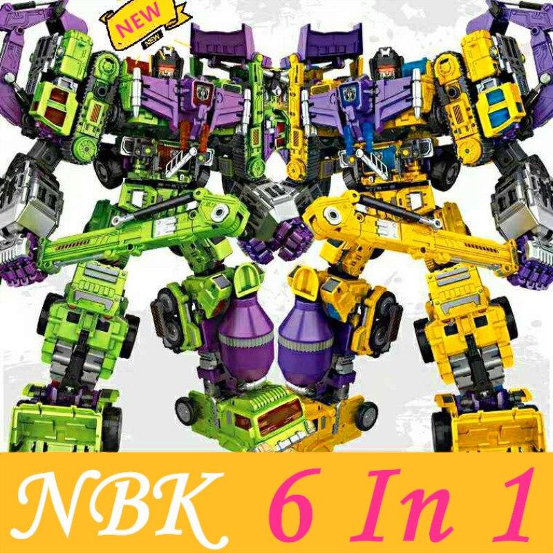 45 cm grand NBK destructeur 6 en 1 KO Robot G1 pelle camion voiture jouet adulte Collection passe-temps modèle Action Figure jouets enfant cadeau