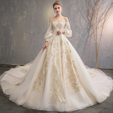 aswomoye 2018 Ball Gown Wedding Dress Bridal Gowns Train
