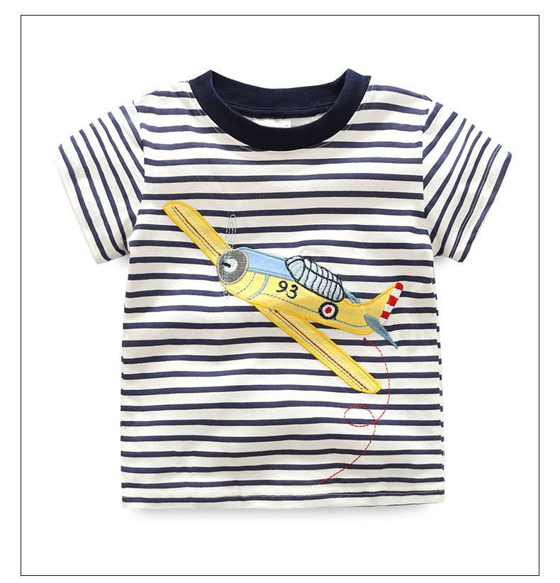 HTB1DUr0QFXXXXa5XFXXq6xXFXXXC - 2017 New Brand top quality kids clothing summer boys short sleeve O-neck t shirt Cotton embroidery cartoon striped tee tops