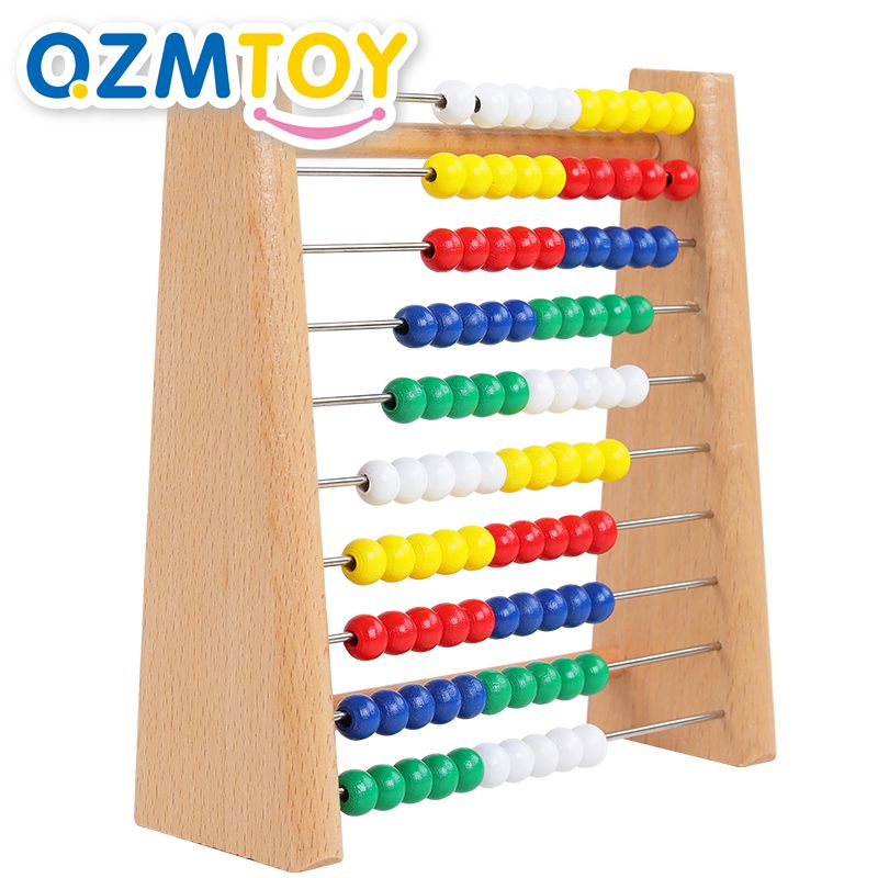 Wooden Abacus Baby Math Toys Mathematics Calculation Frame Wooden Toys Early Learning Montessori Educational Toys For Children(China)