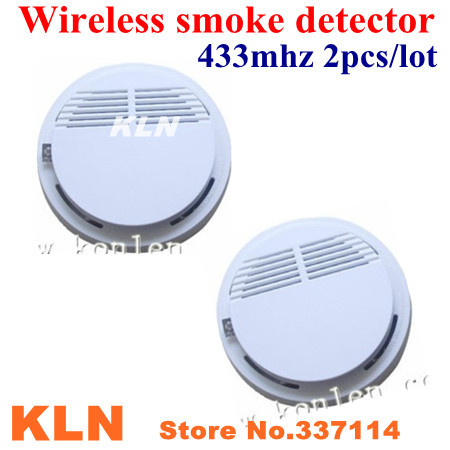 buy fire alarm wireless smoke detector 433mhz work standalone or linked with. Black Bedroom Furniture Sets. Home Design Ideas