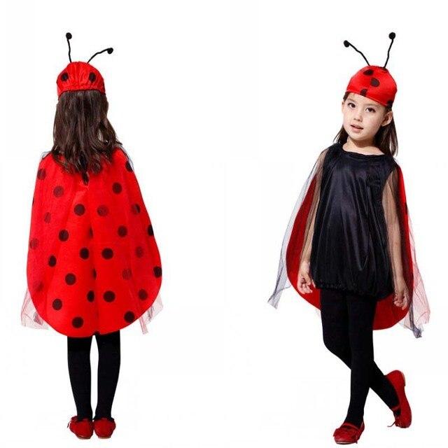 2017 New kids ladybug miraculous Cosplay Costume Cute Girls Ladybird ...