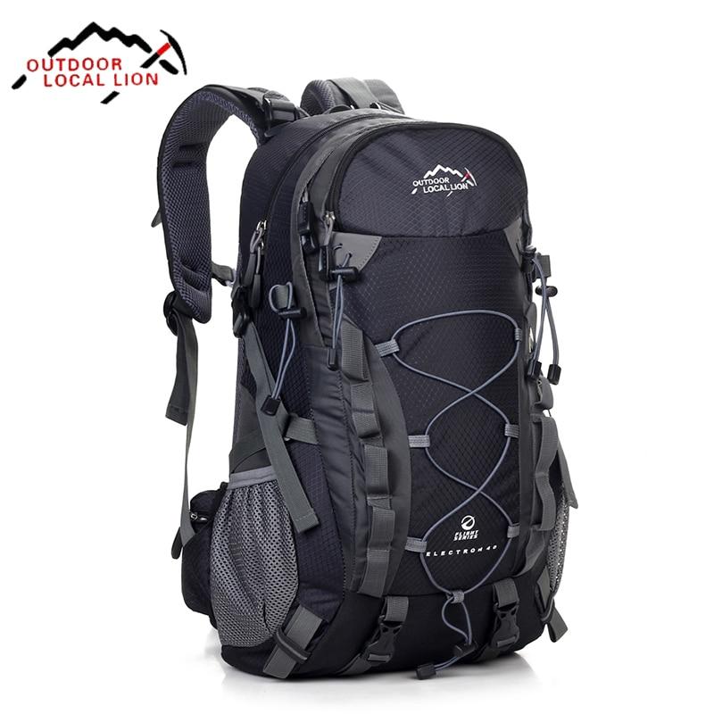 ФОТО Local Lion Brand 40L Hiking Backpack Climbing Travelling Camping Backpacks Professional Trekking Bags Rucksack Bolsas Mochila