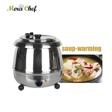 ITOP Commercial Soup Warmer Pot Stainless Steel Buffet Pot Soup Kettle Electric 110V/240V Soup Kettle Warmer Food Processor
