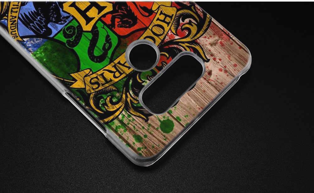 BINYEAE Гарри Поттер, Слизерин школьный герб жесткий прозрачный чехол для LG q6 G6 мини G5 SE G4 G3 V10 V20 V30