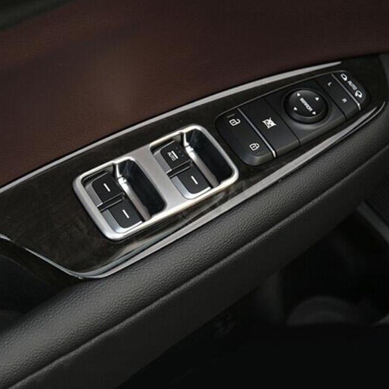 car styling ABS Door Armrest Panel Cover Trim Window Glass Lift Buttons Frame trea Modling Garnish For KIA Optima K5 2016 2017