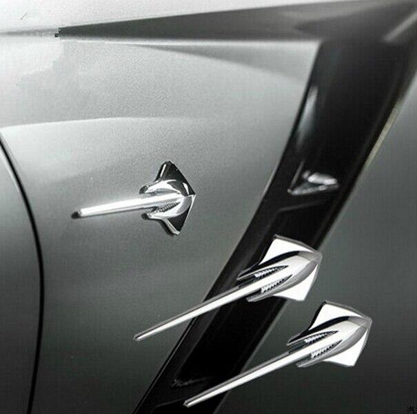 2шт/лот металлического ската Обвайзера автомобиля задний эмблема наклейка для Chevrolet Шевроле Корвет С7