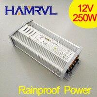 250 w À Prova de Chuva Universal poder suply ac/dc 12 V DC 20A Fonte de Alimentação para tira rígida bar luz da porta para fora