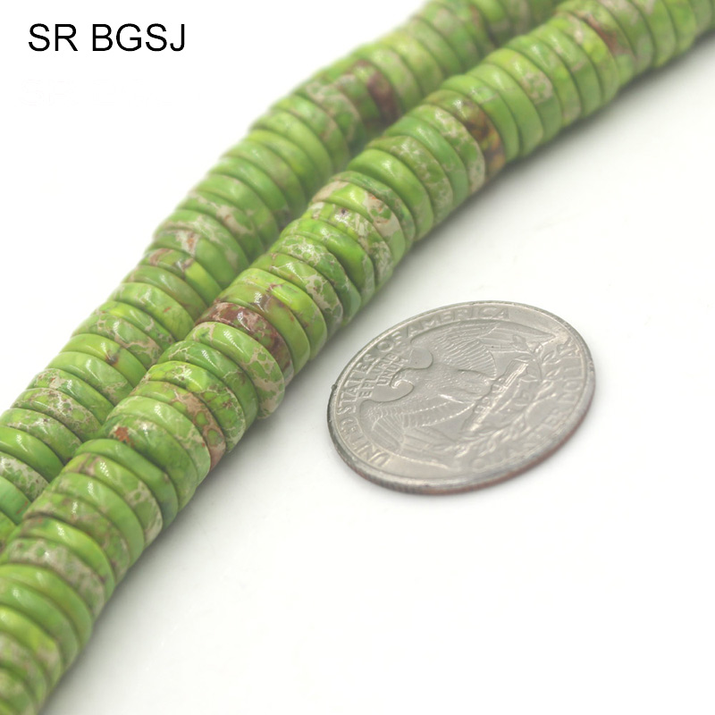 Free Shipping 3x10mm Keshi Sea Sediment Jaspers Green Gems Genuine Stone  Jewelry Spacer DIY Beads Strand 15