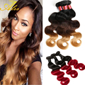 8A blonde weave bundles Ombre Brazilian Virgin Hair Rosa Hair Products Brazilian Ombre Human Hair blonde body wave Hair Weaves