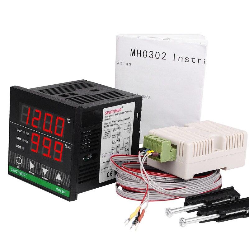 Haute qualité MH0302 régulateur de température numérique Thermostat universel entrée relais sortie température et humidité contrôleur - 5