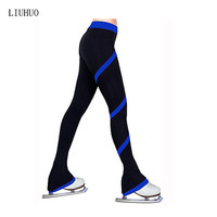 Figure Skating Pants Women's Girls' Ice Skating Tights Bottoms Rose Red Red Blue Light Blue Light Pink High Elasticity Practise
