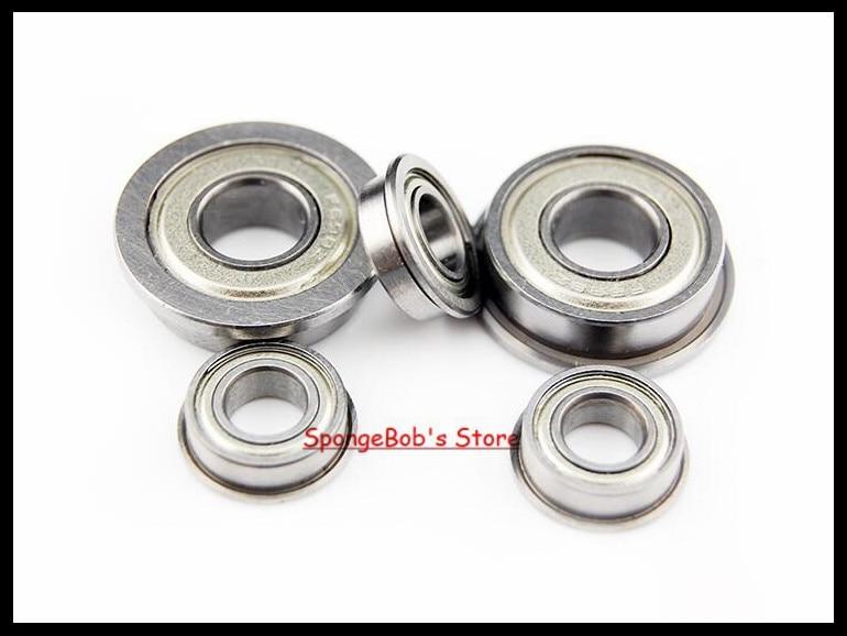 10pcs/Lot F628ZZ  F628 ZZ 8x24x8mm Flange Bearing Deep Groove Ball Radial Ball Bearing 5pcs 628 2z zz bearings deep groove ball bearing 8 x 24 x 8mm