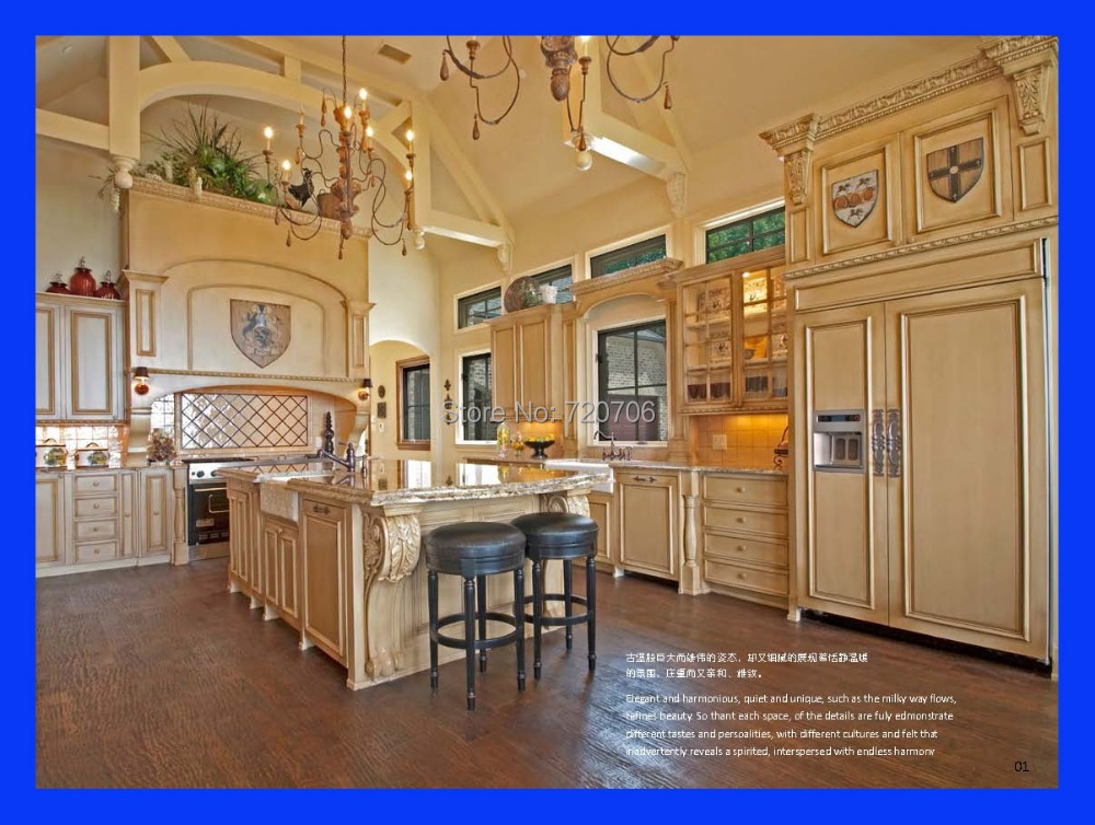 Classic Solid Wood Kitchen Cabinet 2014 New High Quality