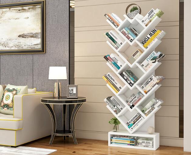150 CM Boom Vorm Boek Plank Studeerkamer Boekenkast Hout Opbergrek - 3