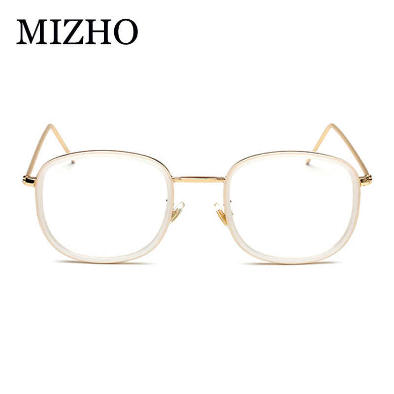 322ee1d9ad ... MIZHO Designer Woman Glasses Optical Frames Vintage Metal Square Korea Glasses  Frame Men Clear lens Eyewear ...