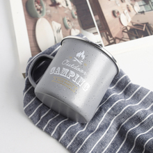 WAF Outdoor Camping Enamel Mug Classical Grey For The Mountain Travel Cup Personalized Enamel Mug Best Gift For Friend рубашка best mountain best mountain be534emfnx04