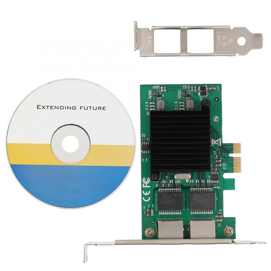PCI-E X11000Mbps Dual Port Gigabit LAN Ethernet Network Card For Intel 82575EB