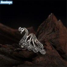 Jinwateryu Лето Последний Павлин Простой моды стерлингового серебра кольцо 925 стерлингового серебра женские ювелирные изделия