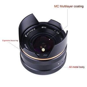 Image 4 - 14mm f/3.5 APS C ידני פוקוס ראש קבוע מצלמה עדשה עבור Sony E הר NEX3 3N 5 5T 5R מצלמה KAXINDA