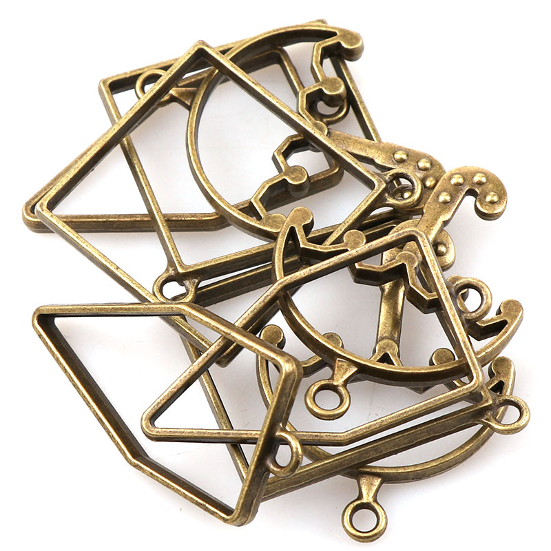 Charms Pendant Umbrella Vintage Jewelry-Findings-Accessories Bronze Metal Antique Rhombus